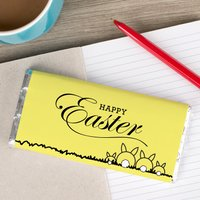 Personalised Chocolate Bar - Happy Easter Rabbit Family