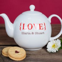 Personalised Bone China Teapot - LOVE - Teapot Gifts