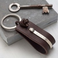 Personalised Leather Key Ring - Key Ring Gifts