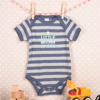 Personalised Striped Baby Onesie - Brother - Brother Gifts
