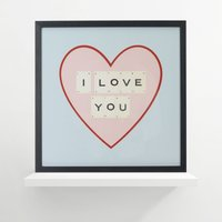 I Love You Vintage Letter Frame