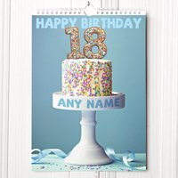 Personalised 18th Birthday Calendar - 18th Gifts