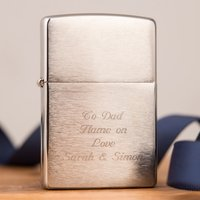 Engraved Chrome Zippo Lighter - Lighter Gifts