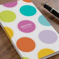 Personalised Address Book - Spotty Design - Spotty Gifts