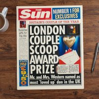 The Sun Personalised Spoof Newspaper Article - Anniversary - Newspaper Gifts