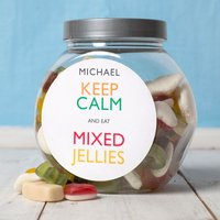 Personalised Haribo Sweet Jar - Keep Calm - Haribo Gifts