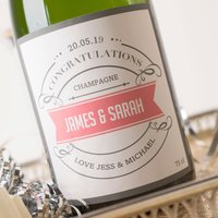 Personalised Luxury Champagne - Congratulations - Pink Banner