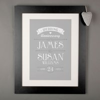 Personalised Print - Wedding Anniversary - Wedding Anniversary Gifts