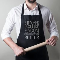 Personalised Apron - Just Like Bacon - Bacon Gifts
