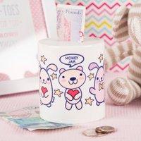 Personalised Ceramic Money Box - Bunny and Bears