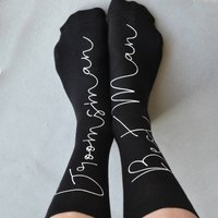 Personalised Socks - Hidden Message Groomsman