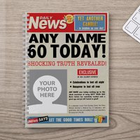 Photo Upload Notebook - 60th Birthday News - 60th Birthday Gifts