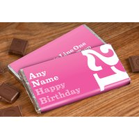 Personalised Chocolate Bar - 21st Birthday for Her - 21st Gifts