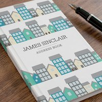 Personalised Address Book - Town Houses - Book Gifts