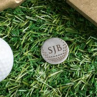 Engraved Stainless Steel Golf Ball Marker