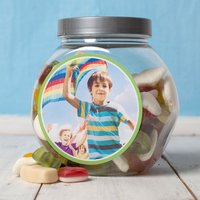 Personalised Haribo Sweet Jar - Photo - Haribo Gifts