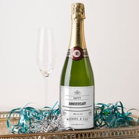 Luxury Personalised Champagne - Sparkly Anniversary - Sparkly Gifts