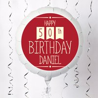 Personalised Large Helium Balloon - 50th Birthday