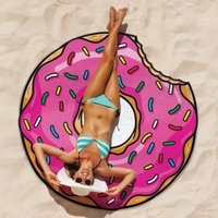 Giant Beach Blanket - Burger Or Pizza - Beach Gifts