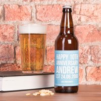 Personalised Beer - 10th Anniversary - Beer Gifts