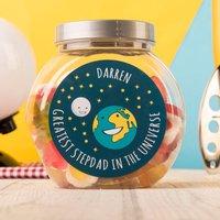 Personalised Haribo Sweet Jar - Stepdad Universe - Haribo Gifts
