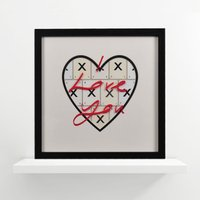 International Love Vintage Letter Frame