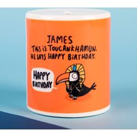 Personalised Katie Abey Ceramic Money Box - Toucankhamun - Money Box Gifts