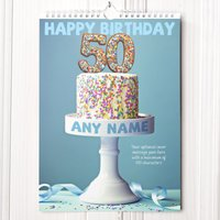 Personalised 50th Birthday Calendar