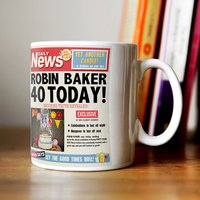 Personalised Mug - 40th Birthday News