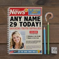 Photo Upload Notebook - Birthday News - News Gifts