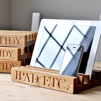 Image of Personalised Solid Oak Desk Tidy