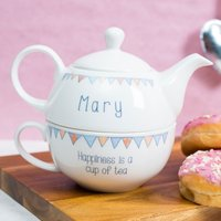 Personalised Tea For One - Happiness Is A Cup Of Tea