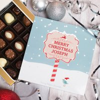 Personalised Belgian Chocolates - Snow - Snow Gifts