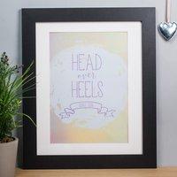 Personalised Print - Head Over Heels - Heels Gifts