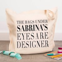 Personalised Tote Bag - Designer Bags - Designer Gifts