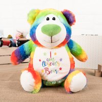 Personalised Cubbies Rainbow Bear Soft Toy - Toy Gifts