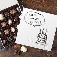Personalised Belgian Chocolates - Banter Pants Stuff your Cakehole - Chocolates Gifts