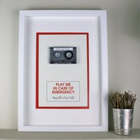 Personalised Framed Mix Tape In Case Of Emergency - Decorations Gifts