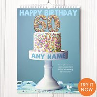 Personalised 60th Birthday Calendar - 60th Birthday Gifts