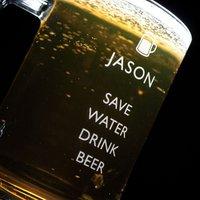 Personalised Pint Tankard - Save Water Drink Beer - Beer Gifts