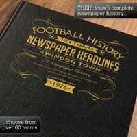 Personalised Swindon Football Book - Football Gifts