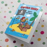 Personalised Card - Pirate's Birthday Treasure - Pirates Gifts