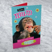 Personalised Card - Mum, From Your Silly Monkey - Silly Gifts