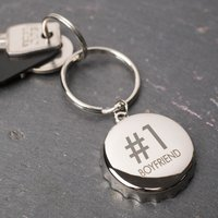 Personalised Bottle Opener Keyring - Number 1 - Bottle Opener Gifts