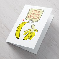 Personalised Valentine's Card - Appealing Banana - Valentines Day Gifts