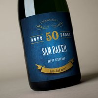 Luxury Personalised Champagne - 50th Birthday Blue Label