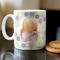 Photo Upload Mug - 3 Photos Flowers - Photos Gifts