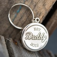 Personalised Bottle Top Keyring With Bottle Opener - Daddy Est. - Bottle Opener Gifts