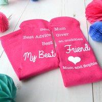 Personalised Socks - Best Friend, Best Mum - Best Friend Gifts