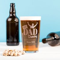 Personalised Pint Glass - Bad Dad Dancing - Dancing Gifts